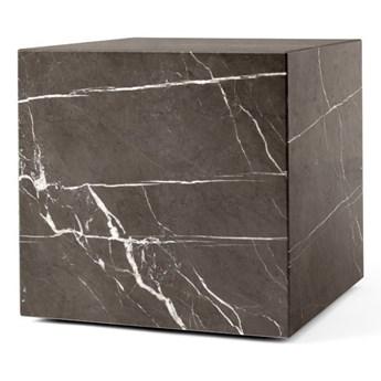 marmurowy postument Plinth Cubic, brązowy, MENU