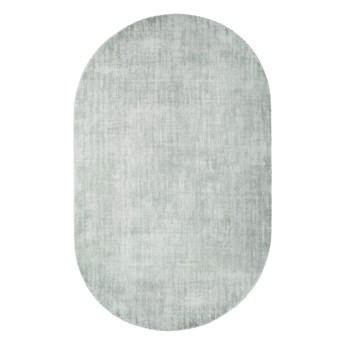 owalny dywan z wiskozy, 150x240 cm miętowy, HK Living