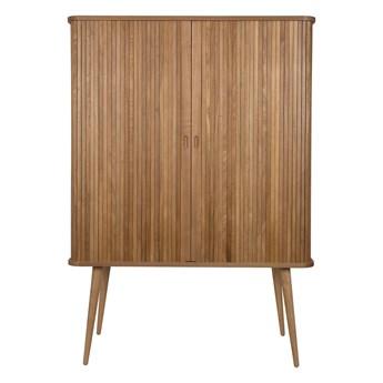 drewniana szafa z półkami Barbier, naturalny, Zuiver