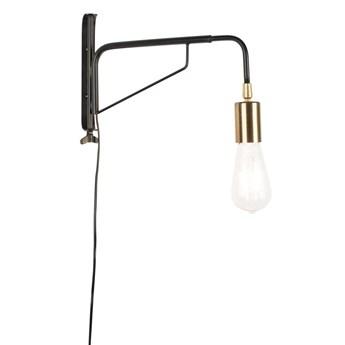 lampa ścienna Lasse, czarny/złoty, LuDesign