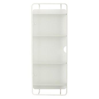 Szafka ścienna ze szklanymi drzwiami, biały, Hübsch