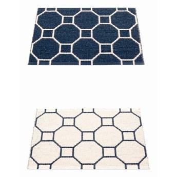 Dwustronny dywan Rakel, Dark Blue/Vanilla Pappelina, różne rozmiary