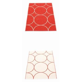 Dywan dwustronny Boo, Red/Vanilla Pappelina, różne rozmiary
