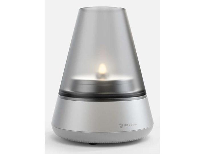 Lampa 3w1 Nordic Light Pro, srebrna, KOODUU Aluminium Metal Świecznik Podgrzewacz Kolor Srebrny Szkło Kategoria Świeczniki i świece