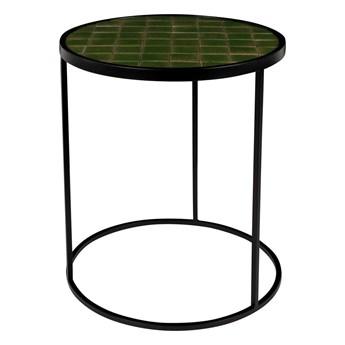 Stolik pomocniczy Glazed wykończony ceramiką, zielony, Zuiver