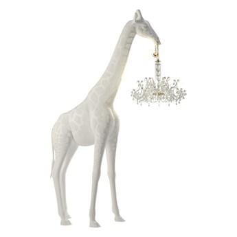 Duża lampa podłogowa Giraffe In Love, biały, QeeBoo