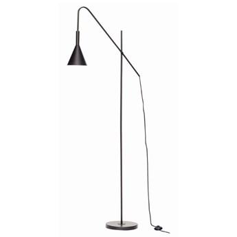 Metalowa lampa podłogowa, czarna, Hübsch