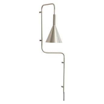 Metalowa lampa ścienna, niklowana, Hübsch