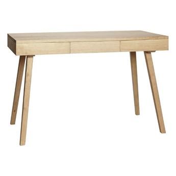 Dębowe biurko z 3 szufladami, naturalny, Hübsch