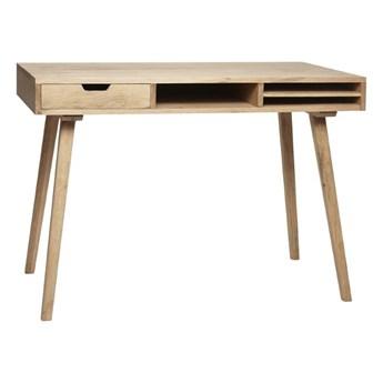 Dębowe biurko z szufladą i schowkiem, Hübsch