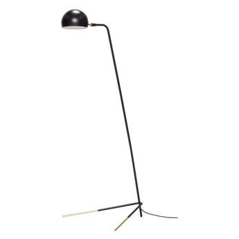 Metalowa lampa podłogowa, czarny, Hübsch