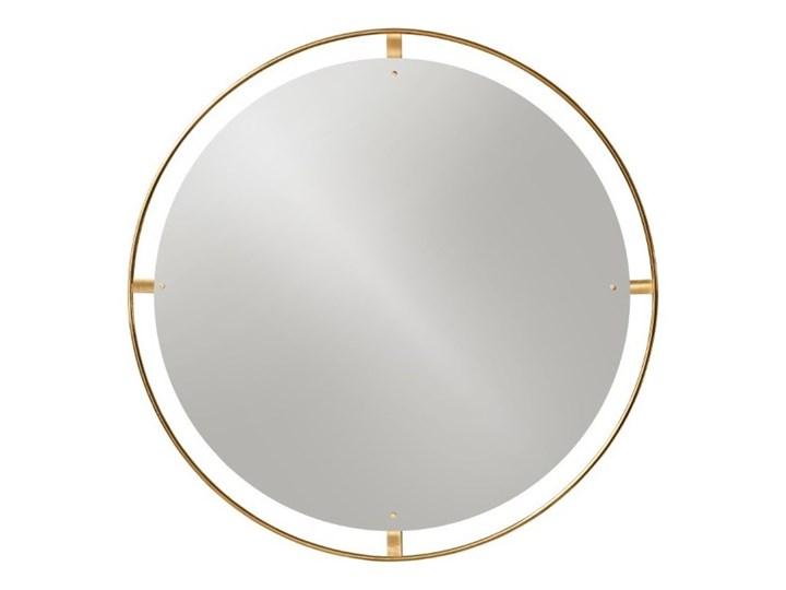 Okrągłe lustro Nimbus Ø110 cm, mosiądz, MENU Ścienne Pomieszczenie Przedpokój Lustro z ramą Pomieszczenie Salon
