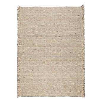 Wełniany dywan Frills 170x240 cm, beżowy, Zuiver