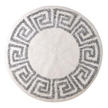 Okrągła mata łazienkowa Ø80 cm, wzór grecki, HK Living