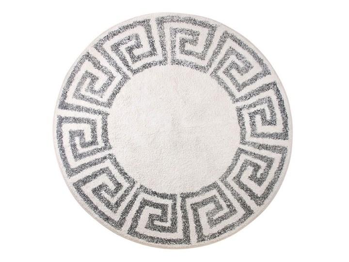 Okrągła mata łazienkowa Ø120 cm, wzór grecki, HK Living Kategoria Dywaniki łazienkowe Bawełna Kolor Szary