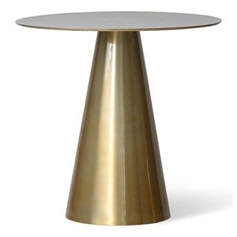 Metalowy stolik pomocniczy Ø49 cm, mosiężny, HK Living