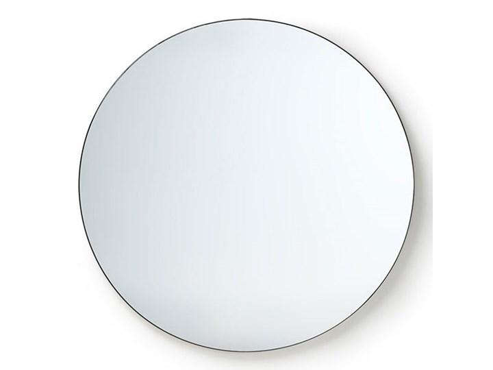 Okrągłe lustro w ciemnej ramie Ø80 cm, HK Living Ścienne Styl Rustykalny