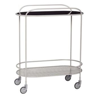 Wózek/stolik na kółkach z lustrzanym blatem, Hübsch