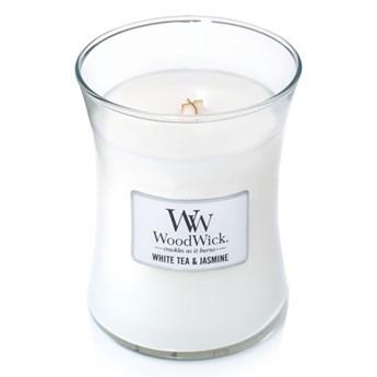 Średnia świeca zapachowa White Tea&Jasmine, WoodWick