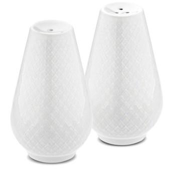 Solniczka i pieprzniczka Rhombe, biały, Lyngby Porcelain