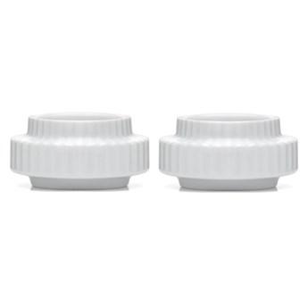 Komplet świeczników na tealighty, biały, Lyngby Porcelain