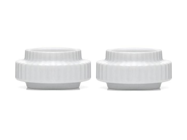 Komplet świeczników na tealighty, biały, Lyngby Porcelain Ceramika Kategoria Świeczniki i świece