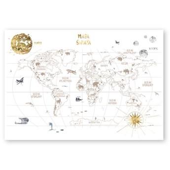 Mural dziecięcy World Map 3 po polsku, Humpty Dumpty