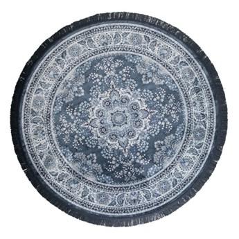 Okrągły dywan Bodega Ø175 cm, niebieski, Dutchbone