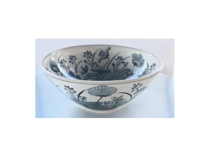 Zlew do łazienki FLORA w niebieskie kwiaty Nablatowe Kategoria Umywalki