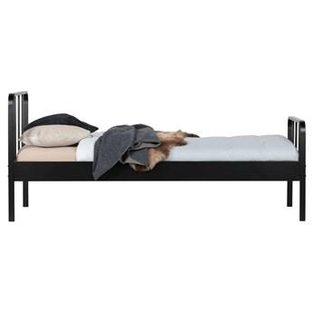 Łóżko metalowe Mees 90x200 cm, czarne, Woood