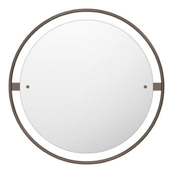 Okrągłe lustro Nimbus Ø60 cm, brązowy mosiądz, MENU