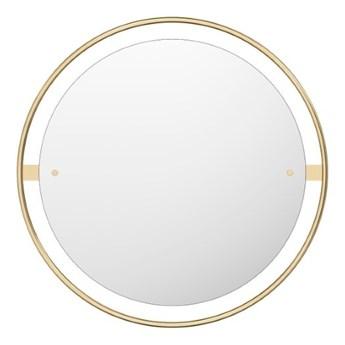 Okrągłe lustro Nimbus Ø60 cm, mosiądz, MENU