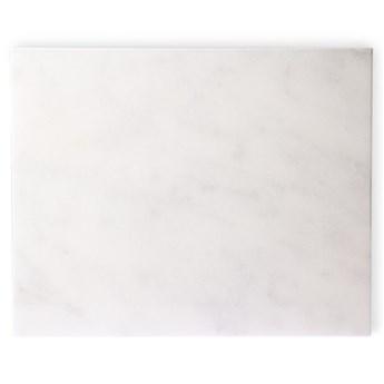 Marmurowa deska do krojenia, biała, HK Living