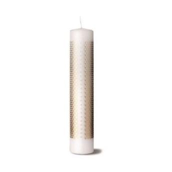 Świeca adwentowa Rhombe biało-złota, Lyngby Porcelain