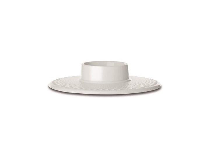 Biały świecznik na świecę blokową Rhombe, Lyngby Porcelain Ceramika Kategoria Świeczniki i świece