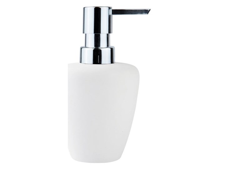 Dozownik do mydła Soft, biały/srebrny, Zone Denmark Dozowniki Porcelana Mydelniczki Kategoria Mydelniczki i dozowniki