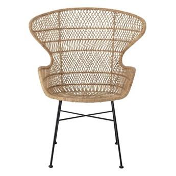 Krzesło rattanowe Oudon naturalne, Bloomingville