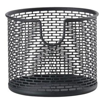 Koszyk na kosmetyki czarny  Ø12 cm Zone Denmark