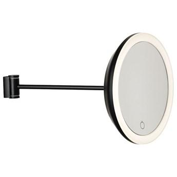 Ścienne lusterko do makijażu z podświetleniem, czarne, Zone Denmark