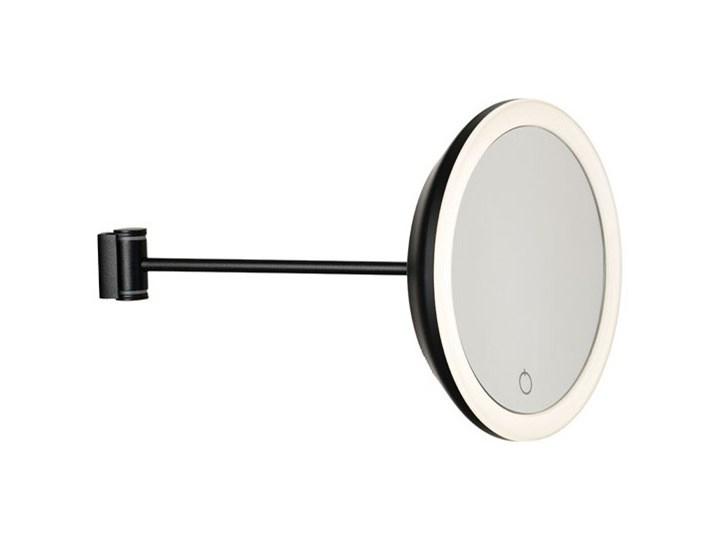 Ścienne lusterko do makijażu z podświetleniem, czarne, Zone Denmark Kolor Czarny