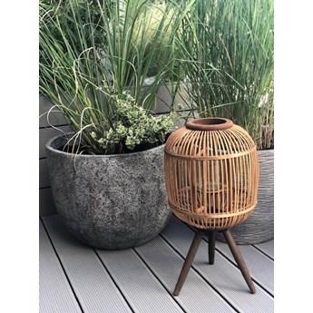 Bambusowa latarnia na nóżkach M, naturalny, Madam Stoltz
