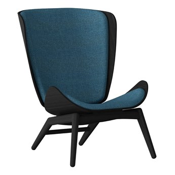 Fotel The Reader czarny, ciemny niebieski Umage
