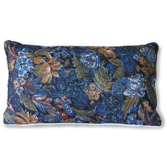 Niebieska poduszka z nadrukiem 35x60, HKLiving