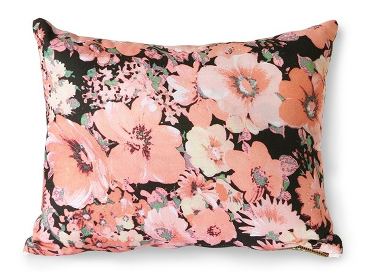 Poduszka z nadrukiem w kwiaty 30x40, HKLiving Kategoria Poduszki i poszewki dekoracyjne 30x40 cm Poduszka dekoracyjna Wzór Roślinny