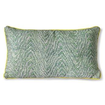 Zielona poduszka z nadrukiem 35x60, HKLiving