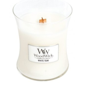 Średnia Świeca White Teak, WoodWick