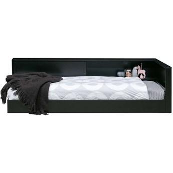 Łóżko narożne czarne Connect Woood