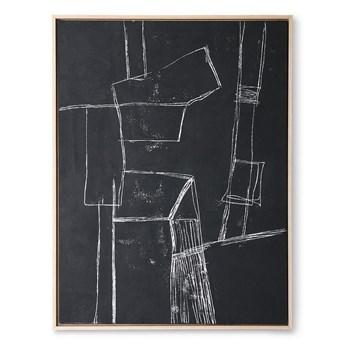Obraz czarny Brutalism 60x80 HKliving