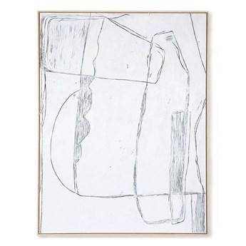 Obraz biały Brutalism 120x160 HKliving