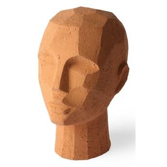 Abstrakcyjna rzeźba głowy terakota, HKliving
